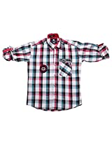 LITTLE MAN Cotton Boy's Shirt (LM16C2_16 , Pink, 16)