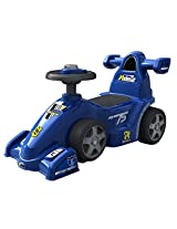 EZ' PLAYMATES BABY RIDE ON FORMULA CAR BLUE