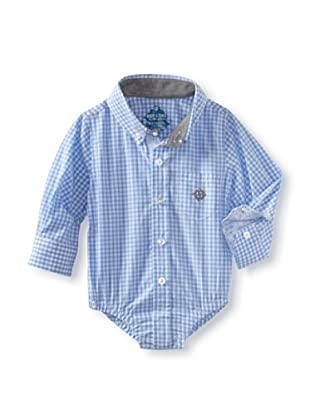 Andy & Evan Baby Boys Shirtzie (Light Blue Ging)