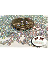 600pc Crystal AB Round Rhinestone 3mm (10ss) 3D Acrylic Nail Art Decoration Cellphone Case USA SELLER! FAST SHIPPING! Includes 2 large butterfly charms