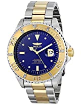 Invicta Men's 0456 Pro Diver Collection Automatic 18k Gold-Plated and Stainless Steel Watch