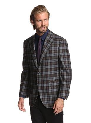 Oxxford Men's 1220 Coat (Plaid)