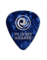 Planet Waves, 6 Guitar Pick, Celluloid Standard, Blue Pearl /Xtra Heavy, 1.25mm