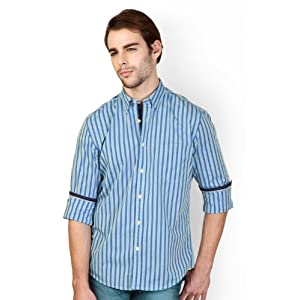 Peter England Striped Slim Fit Shirt