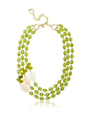 David Aubrey Estelle Triple Strand Aventurine Necklace