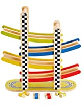 Hape - Early Explorer - Switchback Racetrack Wooden Play Set