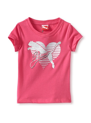Puma Girl's 2-6X Toddler Core Heart Tee (Pink)