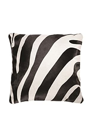 Natural Brand Torino Cowhide Pillow, Zebra Black/Off-White