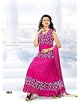 VandV Fashionable Designer Long Pink Anarkali Suits SEM385-1012