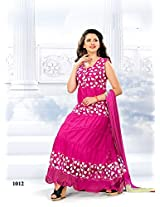 Suchi Womens Net Anarkali Dress Material (Sfdbs10440 _Pink _Free Size)