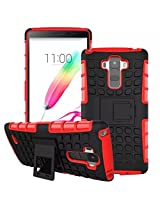 Hot New Fashion Lg G4 Case [Anti-Slip] [Built-In Kickstand] [Soft Tpu +Hard Pc] Hybrid Armor Defender Double Protection Case For Lg G4 (Rose)