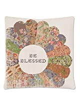 "Heritage Lace Be Blessed Quilted Wisdom Pillow Case, 18 by 18"", Oyster"