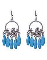 Saadi Gali Enamel Dangle and drop Earring For Women (Silver)
