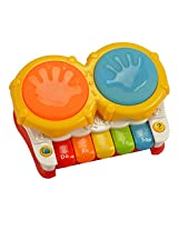 Mee Mee Mini Drum and Piano Musical Toy, Multi Color