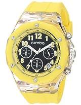 RumbaTime Mens Mercer Lemon Drop 45mm Black Dial Watch