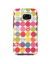 OtterBox SYMMETRY SERIES Case for Samsung Galaxy S7 - Retail Packaging - GUMBALLS (WHITE/DAMSON PURPLE/GRAPHIC)