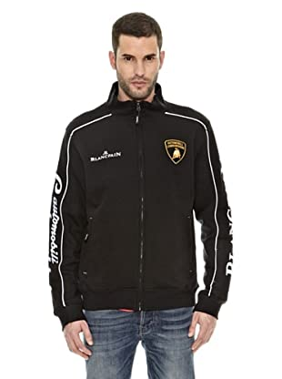 Lamborghini Sudadera Zip up (Negro / Blanco)