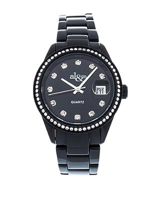 al&co Reloj Alluminium Strass Negro
