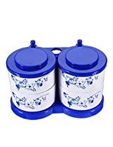 Food-grade Plastic Blue-and-White Porcelain Seasoning Box Spice Jar