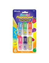 3 Pk, BAZIC Fruit Scented Mini Highlighters (6/Pack Each)
