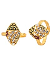 Voylla Eye-catching With Geometric Design & CZ Toe-Rings for Women