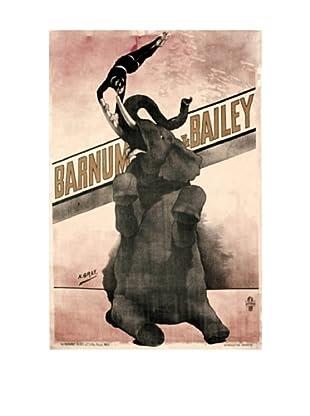 Elephant Gray Barnum & Bailey Giclée Canvas Print
