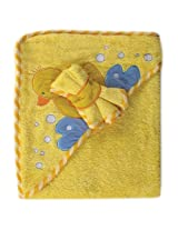 Luvable Friends Fancy Hooded Bath Wrap, Yellow