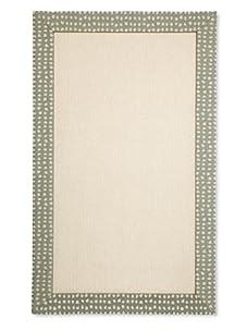 Natural Rugs Tiffany Dot-Border Rug (Sage)