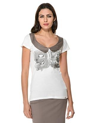 Annarita N Camiseta (Crema/Gris)