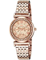 Gio Collection Analog Champagne Dial Women's Watch - G2015-33