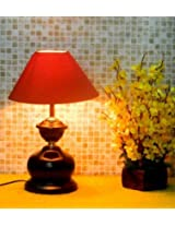 Tucasa Brawn & Red Coloured Table Lamp