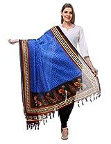 Blue Art Silk Printed Designer Dupatta