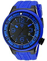 Swiss Legend Men's 21818P-BB-01-BLBS Neptune Black Dial Royal Blue Silicone Watch