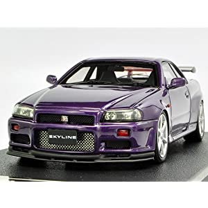 【クリックで詳細表示】hpi 1/43 Nissan Skyline GT-R Vspec R34 Midnight Purple III