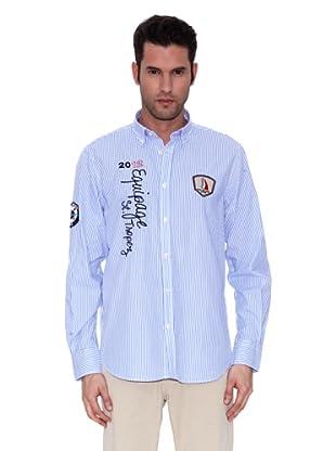 St. Tropez Camisa Lyon (Blanco / Azul)