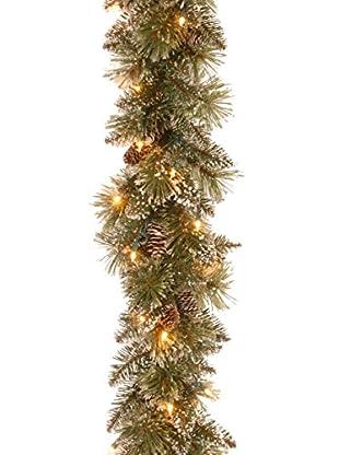 National Tree Company 9' Glittery Bristle Pine Garland