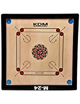 KDM M-24 Unisex Carrom Board Wooden 23 x 23 Inch