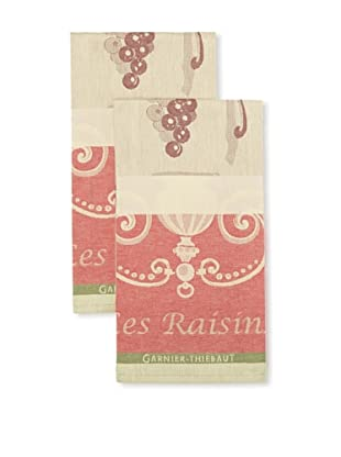 Garnier-Thiebaut Set of 2 Les Raisins Noir Kitchen Towels