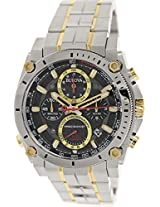 Bulova Precisionist Analog Black Dial Men's Watch - 98B228