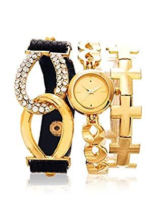 Arm Candy Women's NXS5038G Gold Stainless Steel/Leather Watch