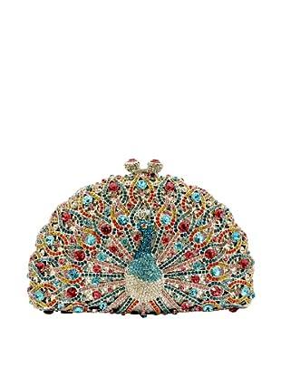 Ciel Collectables Bejeweled Peacock Handbag, Blue Multi