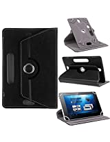 HOM 360ø Rotating Case Cover Stand For Lava Ivory Xtron Z704 Tablet