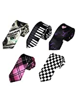 DANF0013 Boss Skinny Neckwear Stain Skinny Boys Ties Set Gentlemen - 5 Styles Available By Dan Smith