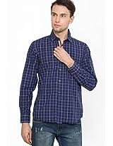 Checks Blue Casual Shirt