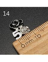 10pcs Metal Rhinestones Crystal 3D DIY Nail Art Tip Decoration (Color:#14)