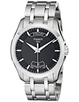 Tissot Men's T0354071105100 Couturier Day-Date Calendar Watch