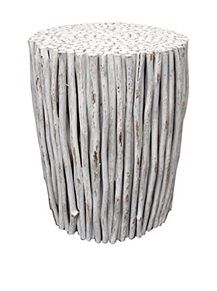 Asian Art Imports Stick Stool (Antique White)