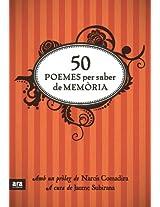 50 poemes per saber de memòria (Poesia. Ara Llibres)