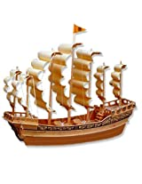 3-D Wooden Puzzle - Ancient Sailboat In Ming Dynasty -Affordable Gift for your Little One! Item #DCHI-WPZ-P131