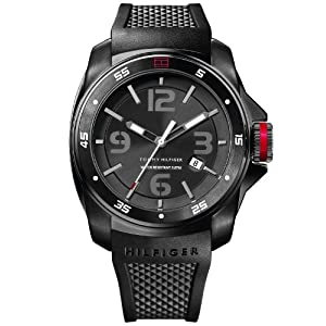 Tommy Hilfiger Black Rubber Analog Men Watch - NTH1790708/DN